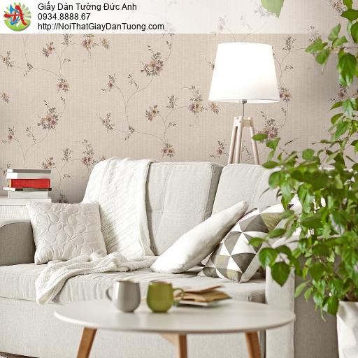 Mozen 73012-2, Giấy dán tường những bông hoa nhỏ dạng dây leo màu hồng nhạt