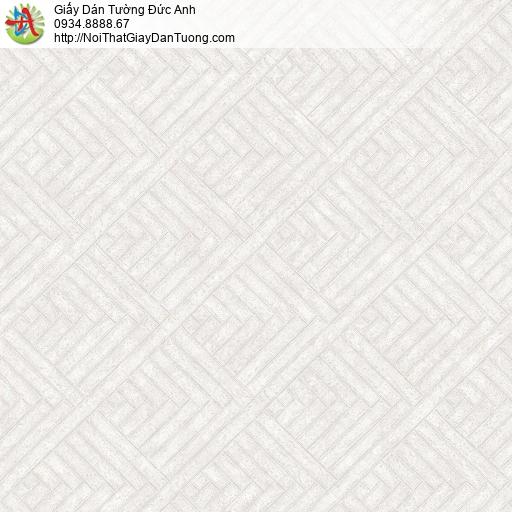 Mozen 73018-1, Giấy dán tường họa tiết ca rô màu trắng xám