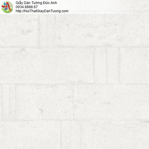Soho 56131-1, Giấy dán tường giả gạch vân chìm màu trắng xám nhạt