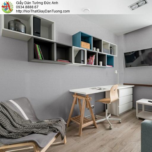 Soho 56132-5, Giấy dán tường gân đơn giản hiện đại màu xám, giấy dán tường điểm nhấn đẹp