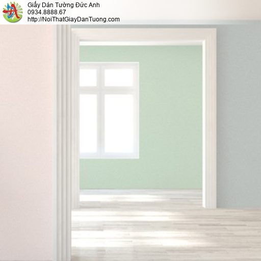 Soho 56135-8, Giấy dán tường màu xanh lá cây không có hoa văn, giấy trơn đơn giản một màu hiện đại