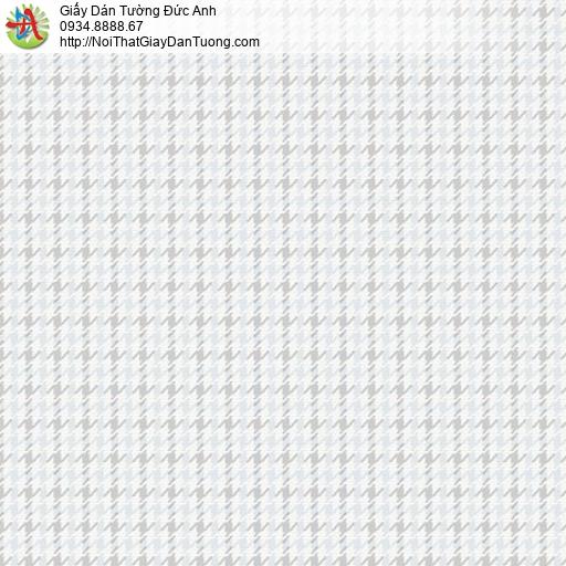 Soho 56137-1, Giấy dán tường họa tiết hình ô vuông nhỏ màu xanh nhạt