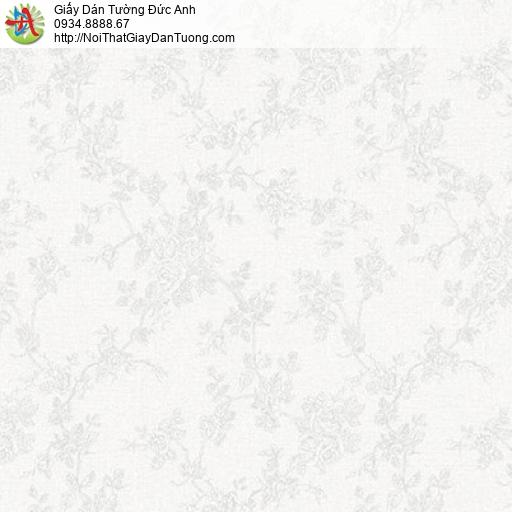 Soho 56140-1, Giấy dán tường hoa lá vân chìm màu trắng xám