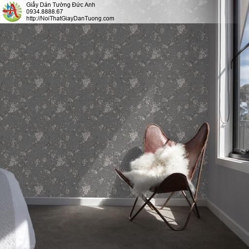 Soho 56140-3, Giấy dán tường hoa lá dây leo màu đen, giấy dán tường điểm nhấn