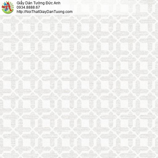Soho 56141-1, Giấy dán tường họa tiết ô vuông nhỏ đan xen màu trắng xám