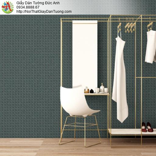 Soho 56141-3, Giấy dán tường họa tiết hình ô vuông nhỏ đan xen màu xanh rêu, dán điểm nhấn màu xanh rêu đẹp