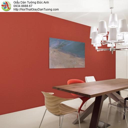 Soho 56144-8, Giấy dán tường trơn gân màu đỏ, màu đỏ đơn giản không có hoa văn