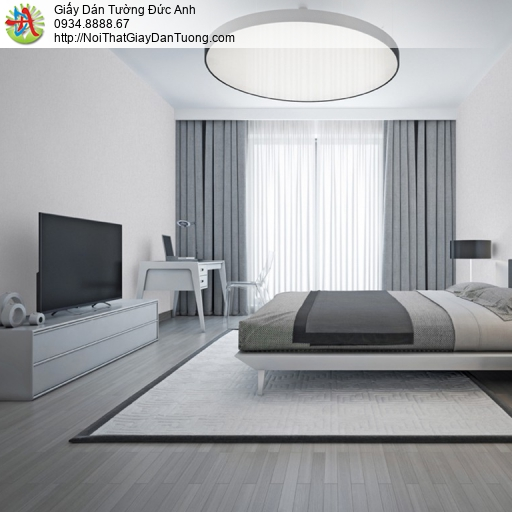 Soho 56145-4, Giấy dán tường trơn màu xám, giấy gân đơn giản hiện đại một màu