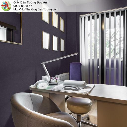 Soho 56145-7, Giấy dán tường gân màu tím đậm, giấy màu tím một màu đơn giản hiện đại
