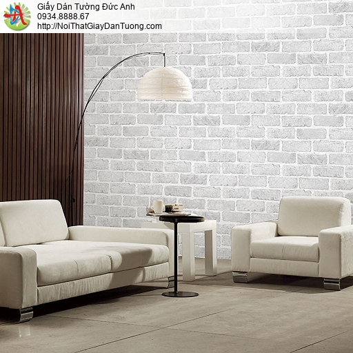Casabene 2717-2, Giấy dán tường giả gạch 3D màu xám