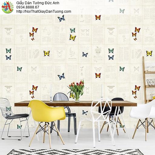 Casabene 2720-1, Giấy dán tường 3D hình bướm nhiều màu