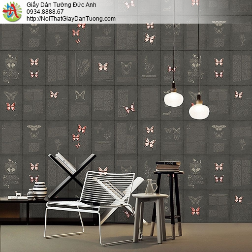 Casabene 2720-3, Giấy dán tường những con bướm bay trên tường màu đen