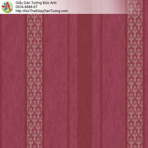 Casabene 2724-4, Giấy dán tường kẻ sọc màu đỏ, giấy màu đỏ đô mới 2021