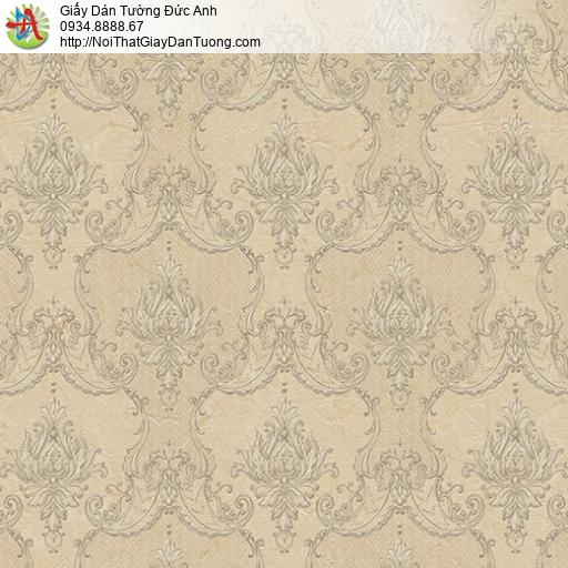 Casabene 2725-2, Giấy dán tường hoa văn cổ điển màu vàng mới nhất