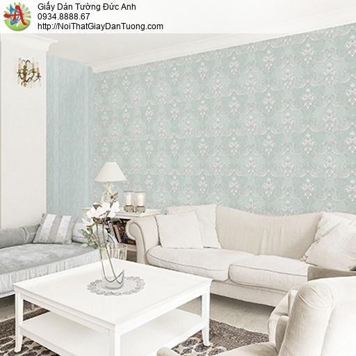 Casabene 2725-3, Giấy dán tường hoa văn cổ điển màu xanh lá cây