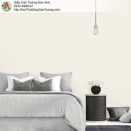 Casabene 2726-2, Giấy dán tường hình ca rô màu vàng nhạt, màu kem hiện đại