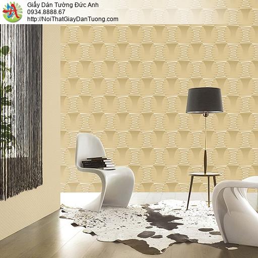 Casabene 2727-3, Giấy dán tường 3D màu vàng hiện đại làm điểm nhấn