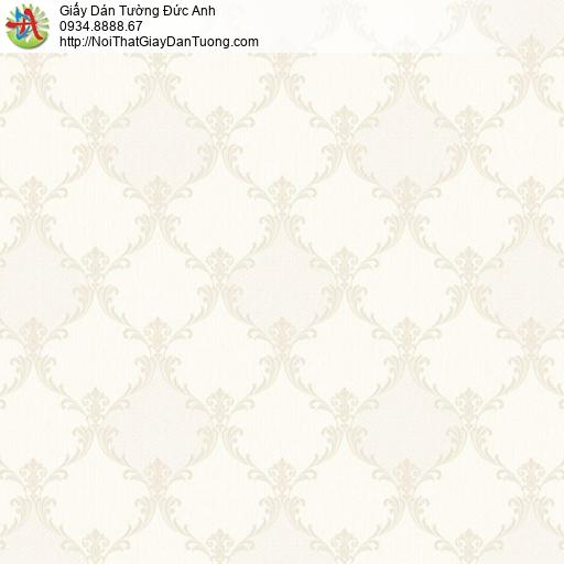 Casabene 2732-1, Giấy dán tường hoa văn cổ điển phong cách Châu Âu màu kem, vàng kem