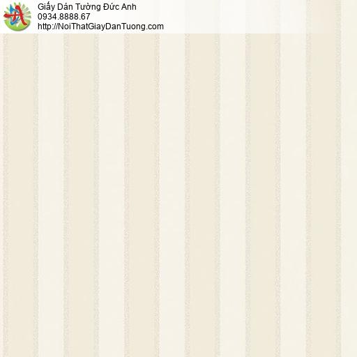 Casabene 2735-2, Giấy dán tường kẻ sọc màu vàng nhạt hiện đại
