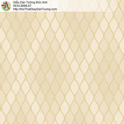 Casabene 2736-3, Giấy dán tường họa tiết hình ca rô màu vàng sang trọng