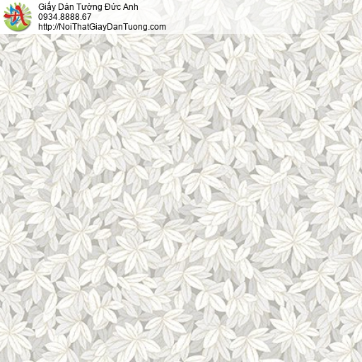 Casabene 2738-2, Giấy dán tường hình lá cây đan xen màu xám hiện đại