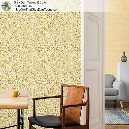 Casabene 2738-3, Giấy dán tường hoa văn hình lá cây đan xen nhau màu vàng