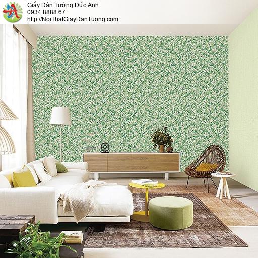 Casabene 2738-4, Giấy dán tường hình lá cây đan xen màu xanh lá cây