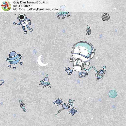 Giấy dán tường các vệ tinh trong khí quyển và các phi hành gia, giấy dành cho trẻ em, Happy Story 2025-1B