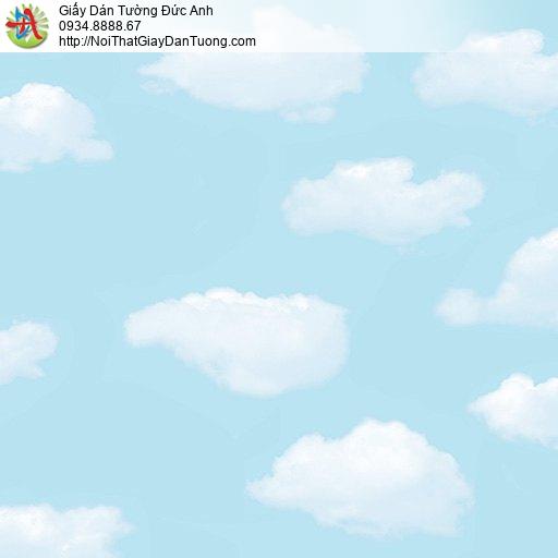 Giấy dán tường hình bầu trời trong xanh mây trắng, giấy dán trần nhà đẹp, Happy Story 6104-1B