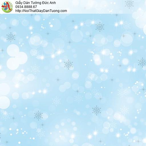 Giấy dán tường cho bé gái các bông tuyết rơi màu xanh dương, Happy story 6803-2B