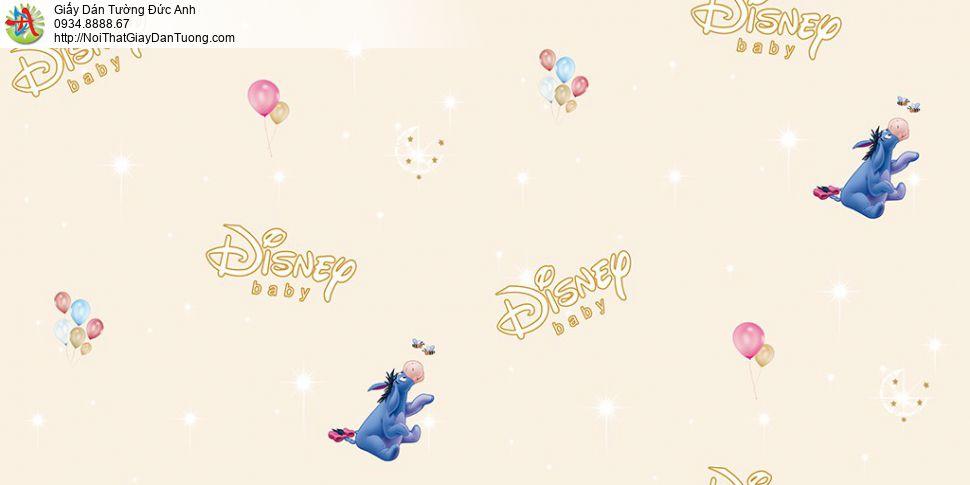 Giấy dán tường hình chú lừa Eeyore dễ thương màu xanh dương, Happy story 6815-2B