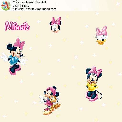 Giấy dán tường hình Minnie Mouse của Disney cho bé, giấy trẻ em Happy story 6812-1B