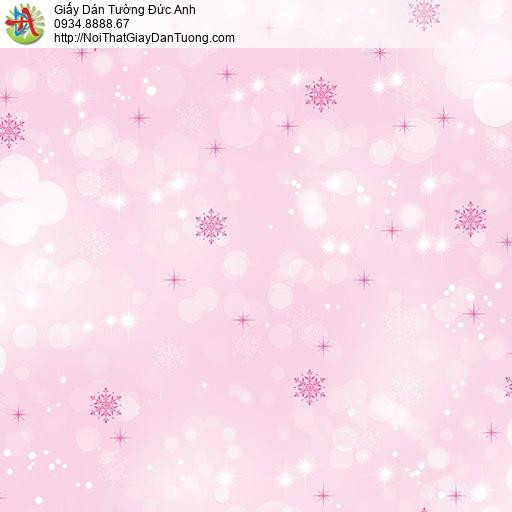 Giấy dán tường trẻ em các bông tuyết màu hồng đẹp, Happy story 6803-1B