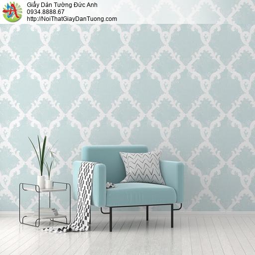 Albany 6808-3, Giấy dán tường phong cách cổ điển màu xanh lá cây
