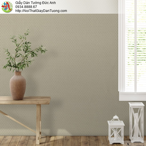 Albany 6810-4, Giấy dán tường gân lớn màu nâu đất, giấy màu nâu hiện đại