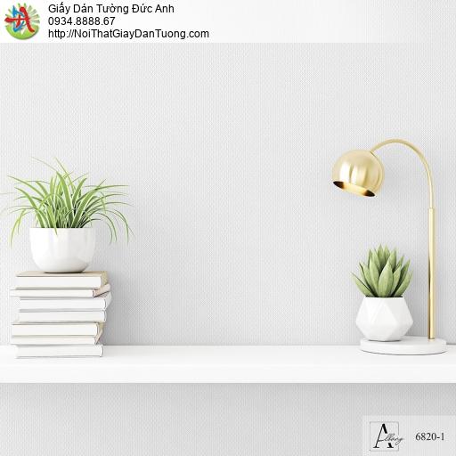 Albany 6820-1, Giấy dán tường đơn sắc, giấy gân màu trắng xám