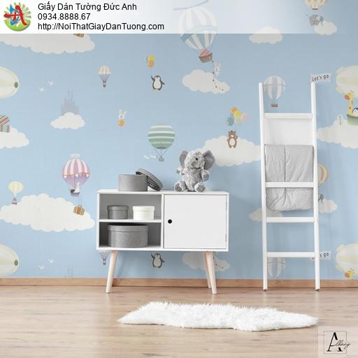 Albany 6825-1, Giấy dán tường dành cho trẻ em, bầu trời xanh mây trắng khinh khí cầu