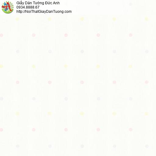 Albany 6829-1, Giấy dán tường chấm bi màu kem, giấy chấm bi nhiều màu