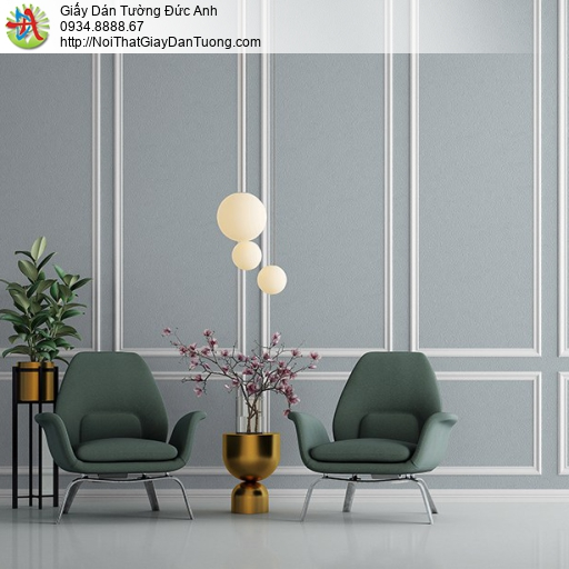 Albany 6831-2, Giấy dán tường màu xám xanh nhạt, giấy một màu đơn giản hiện đại