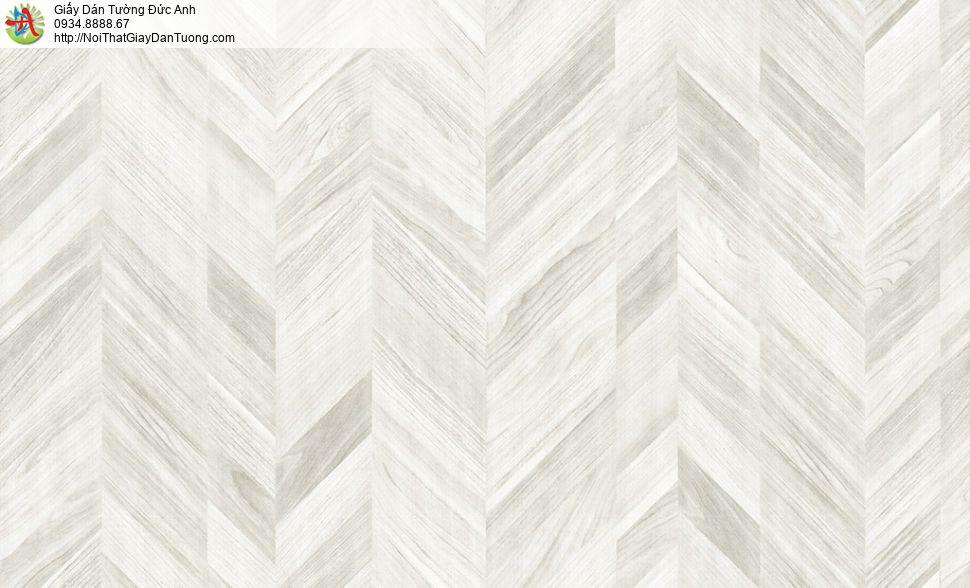 Albany 6815-1, Giấy dán tường giả gỗ ghép xéo màu trắng xám