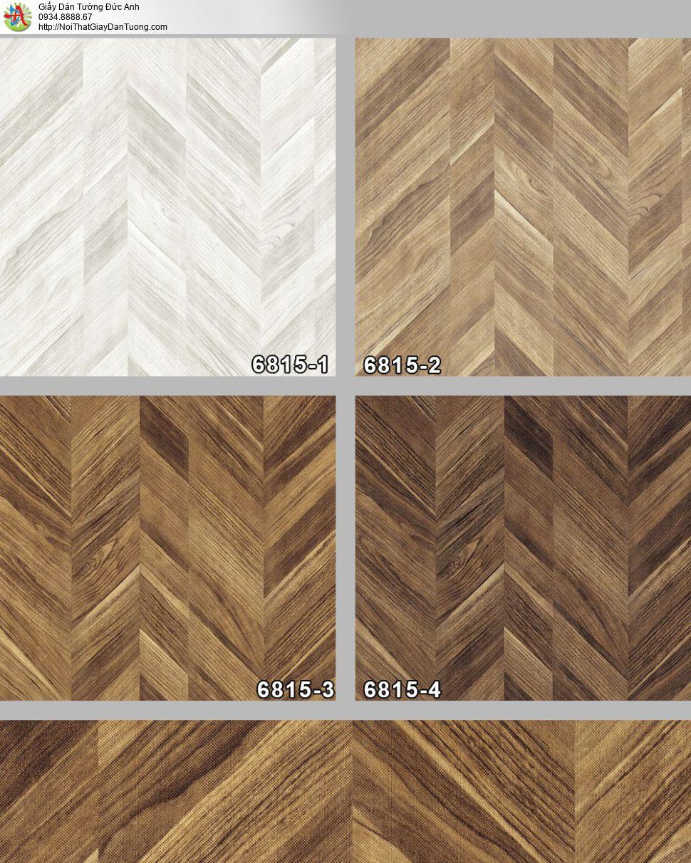 Albany 6815-2, Giấy dán tường giả gỗ màu nâu