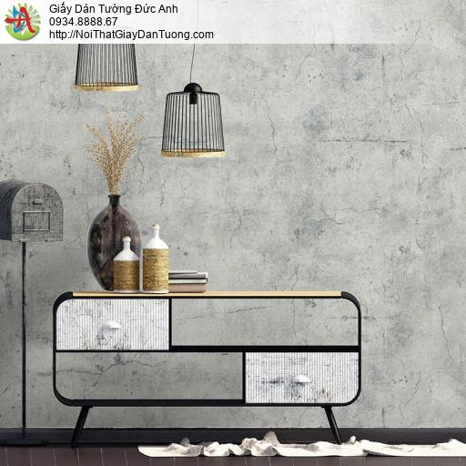 Albany 6817-1, Giấy dán tường giả bê tông màu trắng xám, Giấy dán tường màu xi măng