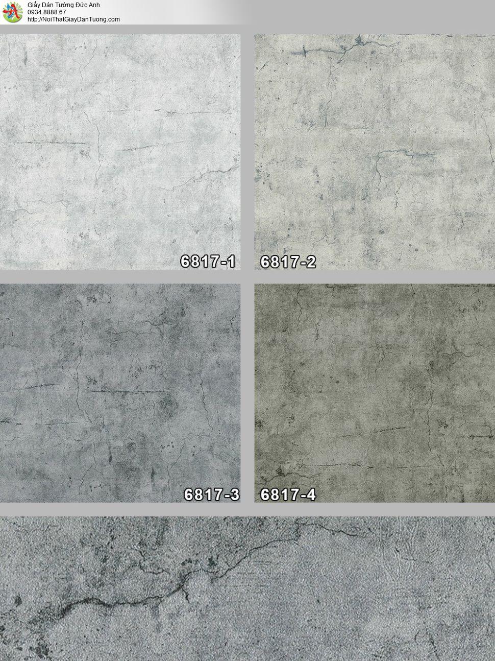 Albany 6817-3, Giấy dán tường màu xám xi măng, giấy dán tường màu bê tông mới 2022