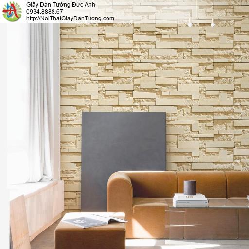 Giấy dán tường cao cấp, giấy dán tường giả đá 3D Natural 87003-3
