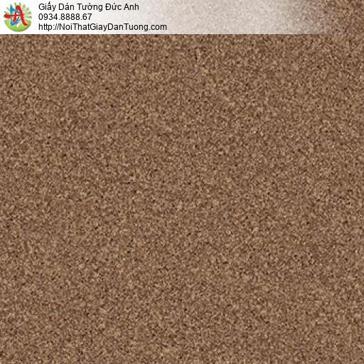 Giấy dán tường giả phun gai bột đá hạt cát màu nâu đậm, Natural 87024-9
